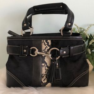 COACH Hampton Satchel Signature/Leather/Python
